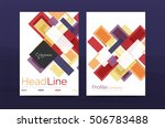 straight lines geometric... | Shutterstock .eps vector #506783488