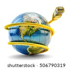 global internet communication... | Shutterstock . vector #506790319