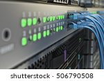 network connection and internet ... | Shutterstock . vector #506790508