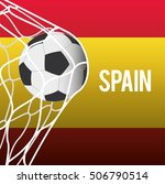 flag and soccer ball icon.... | Shutterstock .eps vector #506790514
