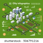 3d city isometric three... | Shutterstock . vector #506791216