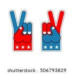 foam finger victory. symbol of...   Shutterstock .eps vector #506793829