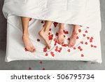 close up of male and female... | Shutterstock . vector #506795734