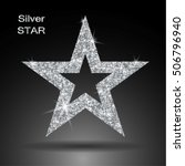 silver star vector banner.... | Shutterstock .eps vector #506796940