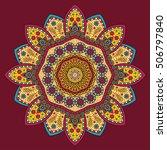 circle mandala pattern. vintage ... | Shutterstock .eps vector #506797840