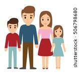 parents and kids cartoons icon. ... | Shutterstock .eps vector #506798680