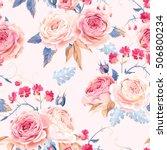 seamless vintage roses | Shutterstock .eps vector #506800234