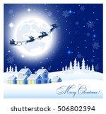 card a winter landscape during... | Shutterstock . vector #506802394