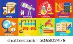 school subjects. various... | Shutterstock .eps vector #506802478