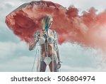 fashion type portrait of a... | Shutterstock . vector #506804974