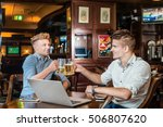 relax in the bar after a hard... | Shutterstock . vector #506807620