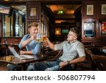 best time to drink beer. two... | Shutterstock . vector #506807794
