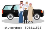 family and social concept. arab ... | Shutterstock .eps vector #506811538