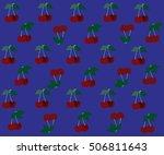 blue background cherry | Shutterstock .eps vector #506811643
