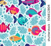seamless pattern with... | Shutterstock .eps vector #506812804