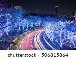 winter illumination in tokyo... | Shutterstock . vector #506815864
