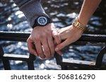 women's and men's watches. man... | Shutterstock . vector #506816290