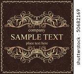 decorative vector background | Shutterstock .eps vector #50682169
