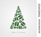 christmas tree illustration...   Shutterstock .eps vector #506824420