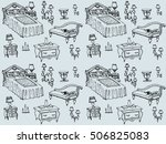 seamless texture   a sketch of... | Shutterstock .eps vector #506825083