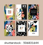 set of abstract creative cards. ... | Shutterstock .eps vector #506831644