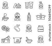 facial skin care icons set.... | Shutterstock .eps vector #506840299
