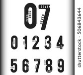 set of numbers with names.... | Shutterstock .eps vector #506843644