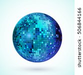 disco ball icon. colorful disco ... | Shutterstock .eps vector #506844166