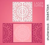 laser cut wedding invitation... | Shutterstock .eps vector #506847064