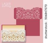 laser cut wedding invitation... | Shutterstock .eps vector #506847070