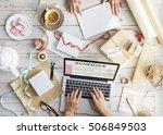 planner calendar schedule date... | Shutterstock . vector #506849503