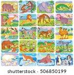 big set of different wild... | Shutterstock . vector #506850199