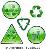 set of green recycled signs | Shutterstock .eps vector #50685133