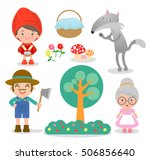 set of characters from little... | Shutterstock .eps vector #506856640