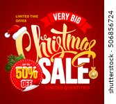 christmas sale design template. ... | Shutterstock .eps vector #506856724