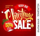 christmas sale design template. ... | Shutterstock .eps vector #506856724