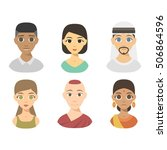 group people nationality race... | Shutterstock .eps vector #506864596