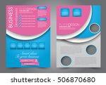 brochure template. business...   Shutterstock .eps vector #506870680