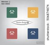 car insurance web icon. vector... | Shutterstock .eps vector #506874874