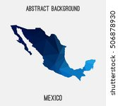 mexico map in geometric... | Shutterstock .eps vector #506878930