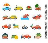 flat car crashing  stealing ... | Shutterstock .eps vector #506882788