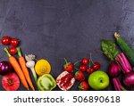 carrot  beetroot  cucumber ... | Shutterstock . vector #506890618