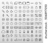 general icons set vector... | Shutterstock .eps vector #506897050