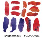 set of watercolor icons. set of ...   Shutterstock .eps vector #506900908