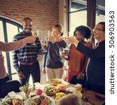 thanksgiving celebration...   Shutterstock . vector #506903563