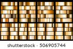 set of metal gradients in... | Shutterstock . vector #506905744
