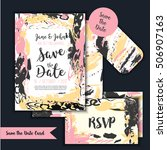 save the date freehand card... | Shutterstock .eps vector #506907163