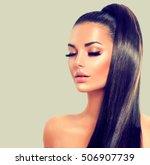 beauty brunette model sexy girl ...   Shutterstock . vector #506907739