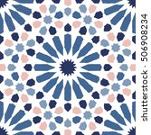 moroccan style geometric... | Shutterstock .eps vector #506908234