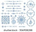 christmas new year decor...   Shutterstock .eps vector #506908288
